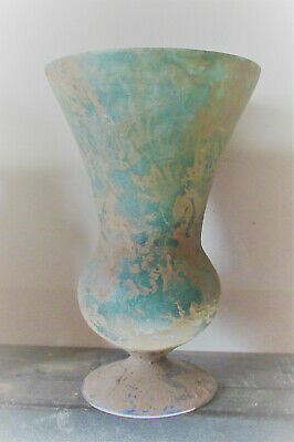 Beautiful Ancient Roman Glass Iridescent Large Vase 200-300Ad