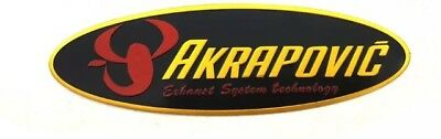 Oval AKRAPOVIC 3D Exhaust Heat Proof Resistant Aluminium Sticker Decal Moto