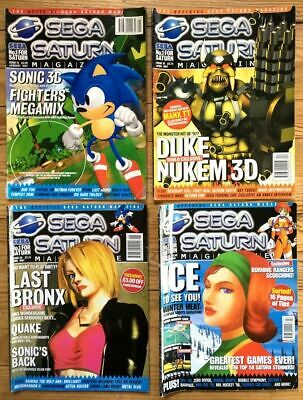 Lot 4 Magazines The Official Sega Saturn Issues 15 18 20 28 1997 & 1998 Volumes