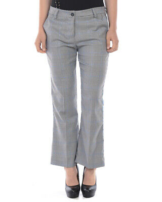 Please Jeans Trouser MADE IN ITALY Woman Grey P975BB19 Sz. L MAKE OFFER