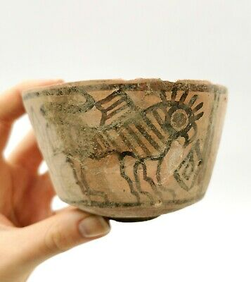 Superb Indus Valley Ca.2200 Ad Terracotta Vessel With Gryphon Motifs R184