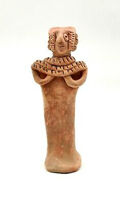 Superb Indus Valley Ca.2500 Bc  Terracotta Standing Female Fertility Idol- R189