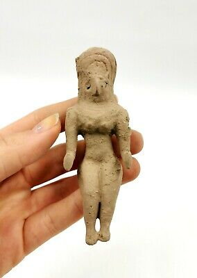 Superb Indus Valley Ca.2500 Bc  Terracotta Standing Female Fertility Idol-R193