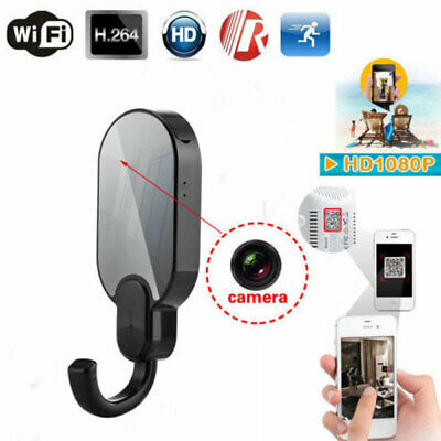 Wireless 1080P WiFi IP Night Vision Clothes Hook Security nanny Camera Video DVR
