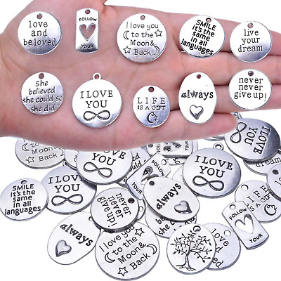 BronaGrand 40pcs Inspiration Words Charms Craft Supplies Beads Charms 4336819444