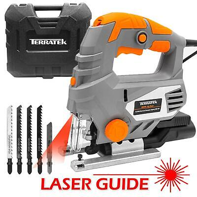 Terratek 800W  Electric Jigsaw Compact Cutting Variable Speeds Corded with Laser