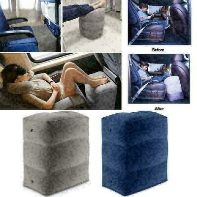 Inflatable Office Travel Footrest Leg Foot Rest Cushion Pillow Pad Kids Bed Q0F7