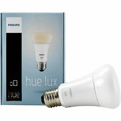 Philips 433714 9W A19 Hue LUX LED Personal Wireless Lighting Single Light Bulb