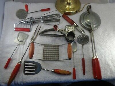 Old Antique or Vintage Large lot of Kitchen Tool lot Collectible Decor tools