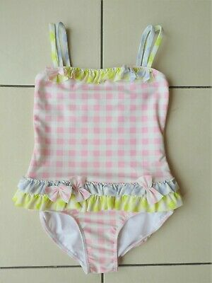 6505efb02e614 *KATE MACK* Girls Pink Blue Green One Piece GINGHAM SWIMSUIT 5yr 110cm GC  rrp