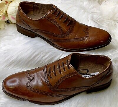 4e6f32b3d83 STEVE MADDEN MENS McAlyster Lace Up Wingtip Oxford Shoes Size 11 ...
