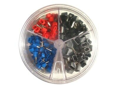 200 Piece Wire Ferrules Twin Insulated 0 75mm ² - 2, 5mm ² Assorted in Shaker