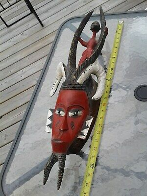 Antique Guro Face Mask with Superstructure  - Ivory Coast - African