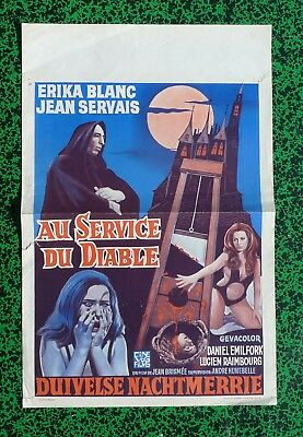 Affiche Cinema Film 1971 Horreur Au Service Du Diable Vintage Movie Poster Belge