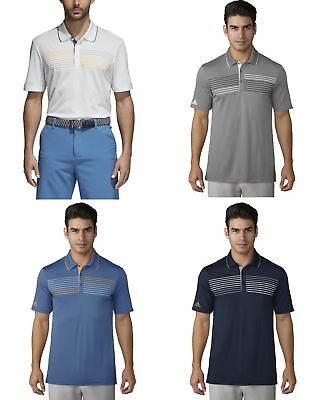 2018 Adidas Essentials Chest Print Polo Mens Golf Shirt Multiple Color/Sizes