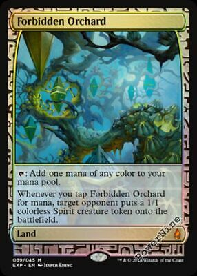 4 PreCon FOIL Forbidden Orchard Land FtV From the Vault Realms Mtg Magic Mythi