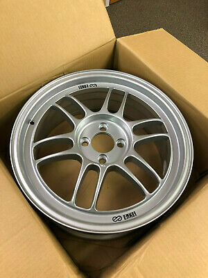 Enkei Rpf1 15x7 4x100 41mm Offset 73mm Silver Wheel Rims For Honda