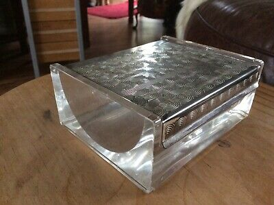WMF Lucite Silver Plated Lidded Box / Rare