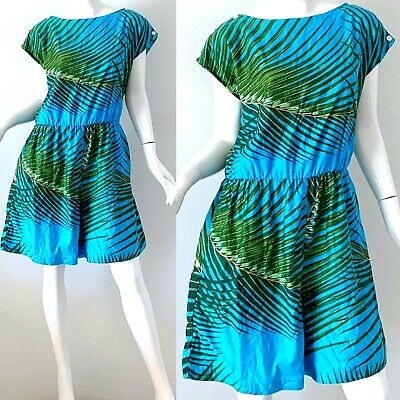 70s Vintage Hawaiian Jumpsuit Andrade Honolulu Mod Psychedelic Floral Romper L