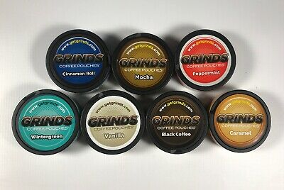 3 Cans of Grinds Coffee Pouches Choose Your Flavors