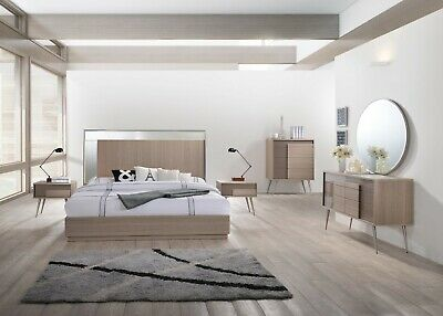 4pc Master Bedroom Furniture Queen Size Bed Offwhite Finish Modern Design Set 1 999 99 Picclick