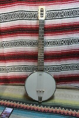 Wishnevsky Six String Banjo. Curly Maple Neck, Guitar scale, Aluminum Pot. Loud!