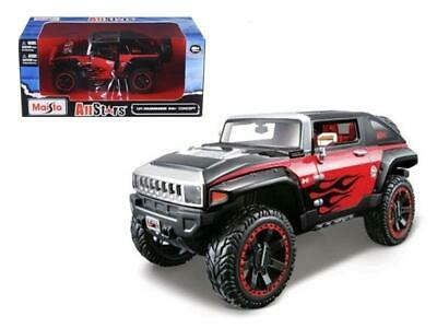 """2008 Hummer HX Concept Black/Red """"All Stars"""" 1/24 Diecast Model Car by Maisto"""