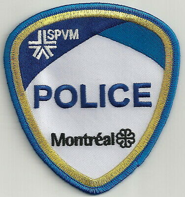 Montreal Quebec Canada Spvm Police Patch Gold Border