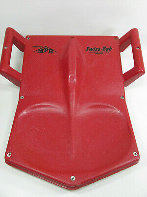 Vintage Swiss Bob Snow Sled by MPH RED Plastic - Made In Switzerland