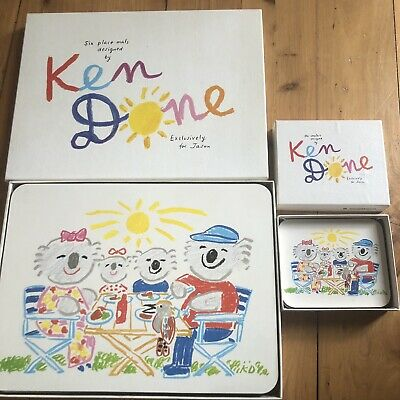"""Vintage KEN DONE """"Koala Picnic"""" For Jason Placemats x6 Coasters x4 in Boxes"""
