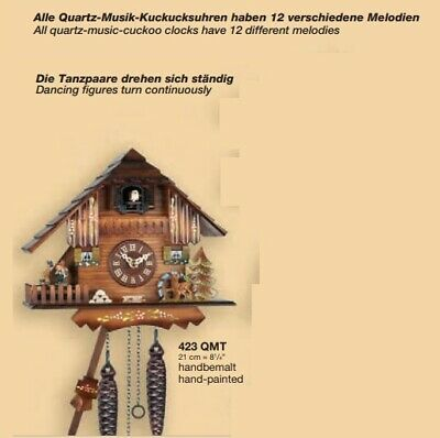 New Engstler Black Forest Cuckoo Clock with moving water mill and dancers