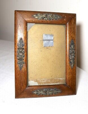 antique ornate 19th century handmade carved wood table picture photo frame