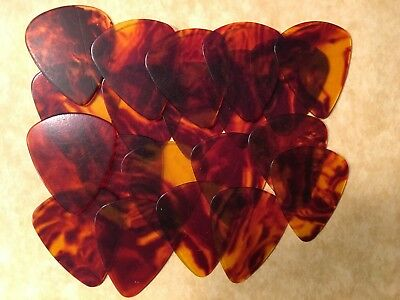 20 PERSONALIZED Guitar Picks False tortiose shell YOUR NAME ON PICKS!! Med.