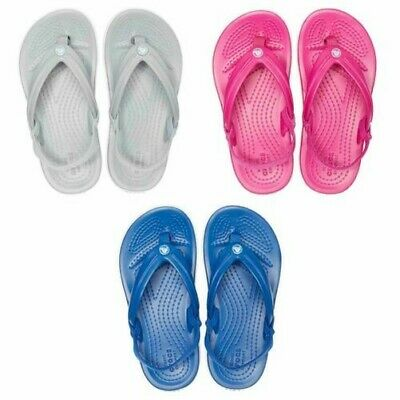 Crocs Crocband Kids Ankle Strap Flip Flops Pool Beach Relaxed Fit Summer Sandals