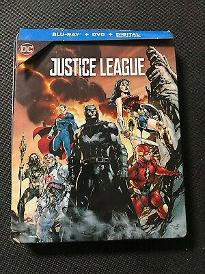 Justice League (Blu-ray/DVD, 2018, SteelBook