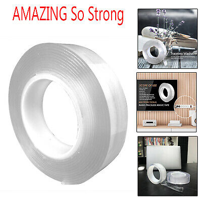 Double-sided Grip Tape Traceless Washable Adhesive Tape Nano Invisible Gel Tapes