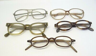 Mixed Vintage Lot Used Retro Prescription Eyeglasses Glasses Frames Parts Nordic