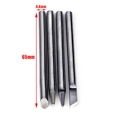 4x 40W Electric Soldering Iron Tip Head Replaceable 4.4mm Shank Solder Irons US