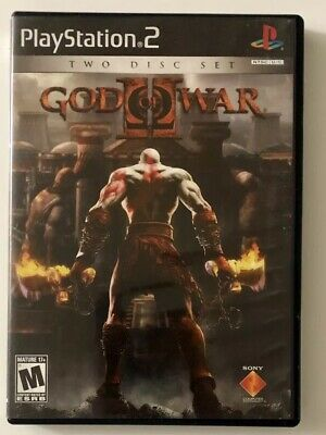 God of War II (Sony PlayStation 2, 2007) PS2 2-Disc Set Complete FREE SHIPPING!