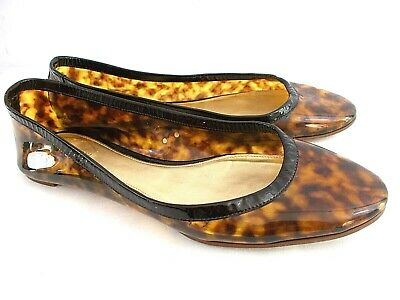 48e132f04f54 J.Crew ITALY Women's 9 M Brown Clear Gemma Tortoise Leopard Flats Loafers  Shoes