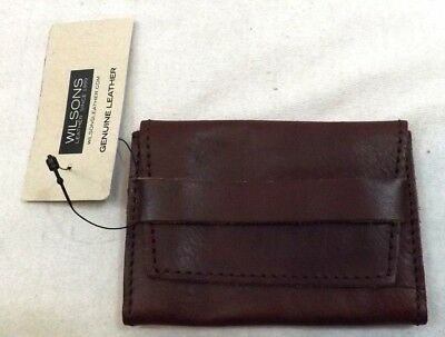 NWT WILSON LEATHER BROWN CARD CASE Wallet MINI SMALL