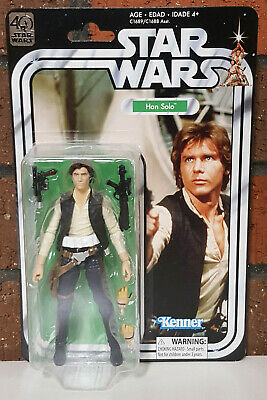 Star Wars 40th Anniversary Han Solo Black Series Action Figure 6Inch Hasbro