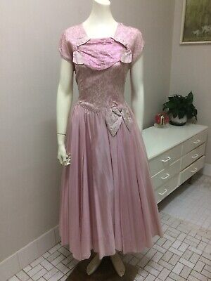 Original Vintage 40s 50s Dress Ballgown Evening Dress ,Brocade, Pinup Rockabilly