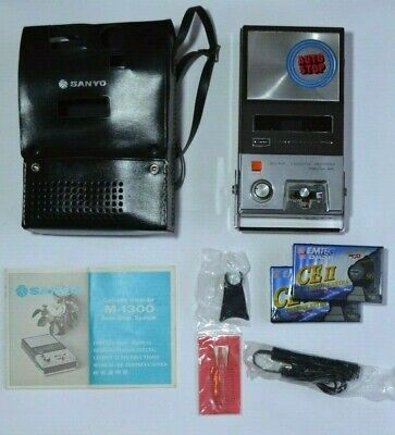 Sanyo Cassette Recorder and Player M-1300 Vintage Microphone See Description
