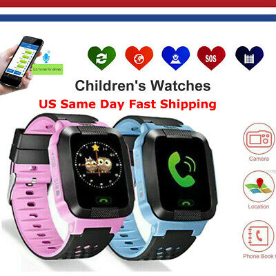 Anti-Perte GPS Tracker SOS Call Montre intelligente enfants pour Android iOS