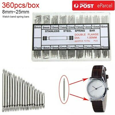 AU STOCK SPRING BAR PINS WATCHMAKERS TOOL For Watch Wrist Band Strap Repair