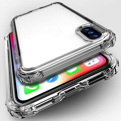 For Samsung A70 A50 A40 A30 A20Shockproof Bumper Transparent Silicone Case Cover