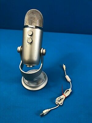 Blue yeti Professional USB Microphone For Recording & Streaming - Silver