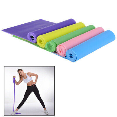 1.5m Elastic Yoga Pilates Rubber Stretch Resistance Exercise Fitness Band Bel_WK