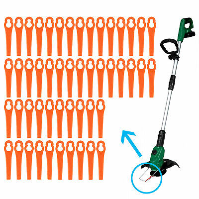 Lot de 100 lames en plastique orange pour coupe-bordures BG RG CT GE-CT 18 Li